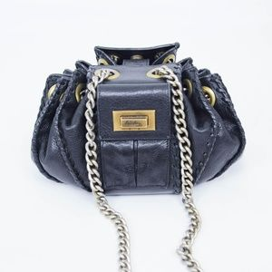 Temperley Leather Bucket Purse Chain Accordion